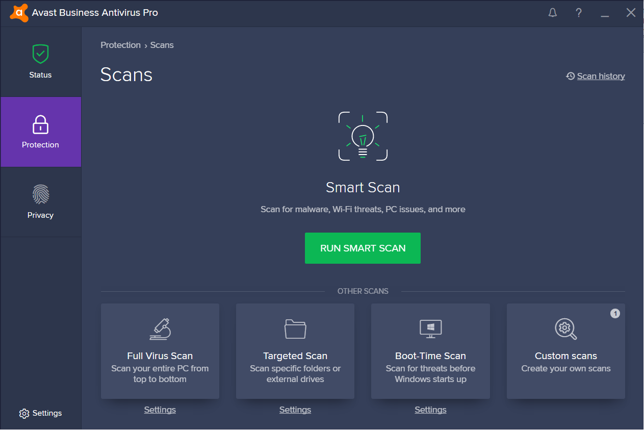 Avast Business Antivirus Scan With Password Protection Enabled